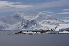 Paradise Bay, Antarctica. Research station in paradise bay, antarctica stock image