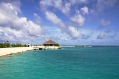Paradise bay - Maldives. Bay in Huduranfushi island - Maldives Royalty Free Stock Photography