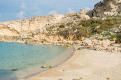 Paradise Bay in Malta. The beautiful Paradise Bay in the Northern Part of Malta Stock Photo
