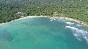 Into Paradise Bay Sri Lanka Aerial 4k. Aerial footage of a bay in Sri Lanka. Slowmotion footage in 4k stock footage