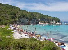 Paradise beach. One of the ten best beach in the world, in Antipaxoi Greece Royalty Free Stock Image