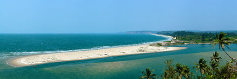 Paradise beach. A Paradise beach in India stock photo