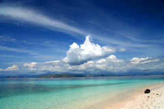 Paradise Beach. Beautiful beach on the small island in Indonesia Stock Images