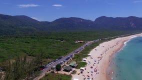 Paradise beach, beautiful beach, wonderful beaches around the world,  Grumari beach, Rio de Janeiro, Brazil. South America Brazil stock footage