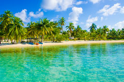 Paradise Beach on beautiful island Stock Images