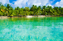 Paradise Beach on beautiful island Royalty Free Stock Images