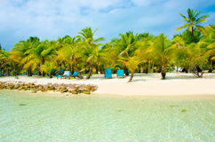 Paradise Beach on beautiful island Stock Image