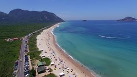 Paradise beach, beautiful beach, wonderful beaches around the world,  Grumari beach, Rio de Janeiro, Brazil. South America Brazil stock video