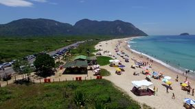Paradise beach, beautiful beach, wonderful beaches around the world,  Grumari beach, Rio de Janeiro, Brazil. South America Brazil stock video footage
