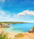 Paradise beach on a clear day in Alghero Royalty Free Stock Image