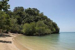 Paradise beach with clear water. Ton Sai, Thailand. Paradise beach with clear water, jungle and karst rocks in Ton Sai, Thailand Stock Photo