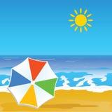 Paradise beach and coast vector Stock Photography