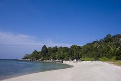 Paradise beach and coconut trees at Koh Adang, Thailand Royalty Free Stock Photos