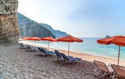 Paradise Beach, Corfu Island, Greece. Royalty Free Stock Photos