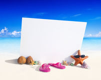Paradise Beach Display with Copy Space Royalty Free Stock Images