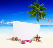 Paradise Beach Display with Copy Space Royalty Free Stock Image