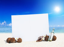 Paradise Beach Display with Copy Space Royalty Free Stock Photo
