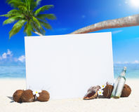 Paradise Beach Display with Copy Space Concept Royalty Free Stock Photography