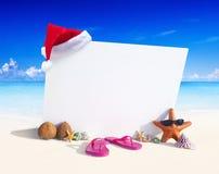 Paradise Beach Display Copy Space Sky Concept Stock Photo