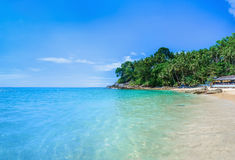 Paradise beach with golden sand, Thailand Royalty Free Stock Photo