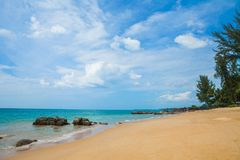 Paradise beach with green turquoise waves, Khao Lak Phangnga in. Thailand Stock Photo