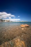 Paradise beach in Ibiza island with blue sky Stock Image