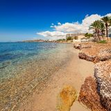 Paradise beach in Ibiza island with blue sky Royalty Free Stock Photography