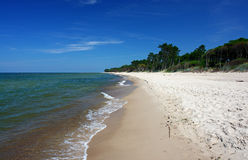 Paradise beach, intensive colors royalty free stock photos