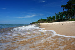 Paradise beach, intensive colors royalty free stock photography