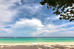 Paradise beach in Koh maiton island , phuket ,Thailand Royalty Free Stock Photos