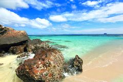 Paradise beach in Koh maiton island , phuket ,Thailand Stock Photo