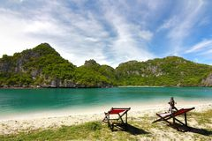 The Paradise beach. at Koh Samui in suratthani ,Thailand Royalty Free Stock Image