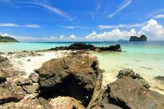 Paradise beach in kohngai  island at trang Thailand Royalty Free Stock Photography
