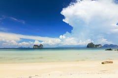 Paradise beach in kohngai island at trang Thailand Stock Image