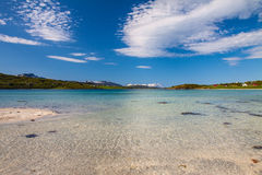 Paradise beach of Lofoten Royalty Free Stock Photo
