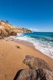 Paradise beach in Mykonos royalty free stock photography