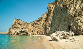 Paradise Beach near Liapades, Western of Corfu Island, Greece Royalty Free Stock Images