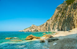 Paradise Beach near Liapades, Western of Corfu Island, Greece Stock Images