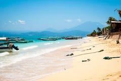 Paradise beach at Nusa Lembongan, Indonesia Stock Image