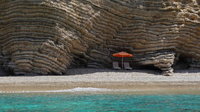 Paradise Beach in Paleokastritsa bay , Corfu , Greece Stock Photos