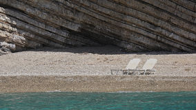 Paradise Beach in Paleokastritsa bay , Corfu , Greece Royalty Free Stock Image