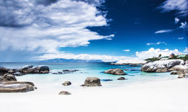 Paradise beach panoramic landscape Royalty Free Stock Photos