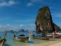 Paradise beach Phra Nang, Krabi, Thailand stock images