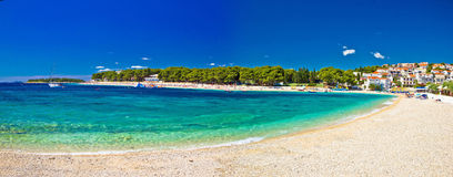 Paradise beach in Primosten panoramic view Stock Photo