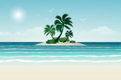Paradise beach. Royalty Free Stock Photo