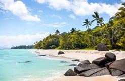 Paradise beach in the Seychelles Stock Photo