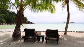 Paradise beach, Seychelles. Paradise beach at Praslin island, Seychelles stock video footage