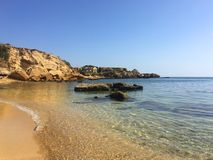 Paradise beach sicily italy. Paradise beach in sicily italy Stock Images
