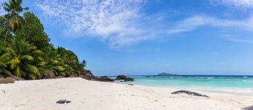 Paradise beach on Silhouette island, Seychelles. Marvelous paradise beach on Silhouette island, Seychelles Royalty Free Stock Image
