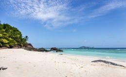 Paradise beach on Silhouette island, Seychelles. Marvelous paradise beach on Silhouette island, Seychelles Stock Photo